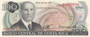 Costarica, 100 Colones, 1987, UNC, p248b