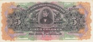 Costa Rica, 5 Colones, 1903, UNC, pS122r