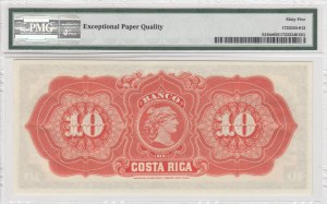 Costa Rica, 10 pesos, 1899, UNC, pS164r
