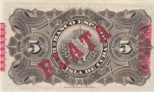 Cuba, 5 Pesos, 1896, UNC, p48b