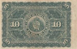 Cuba, 10 Pesos, 1896, VF (+), p49
