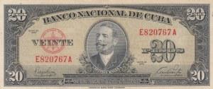 Cuba, 20 Pesos, 1949, VF, p80