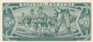 Cuba, 5 Pesos, 1961, UNC, p95s