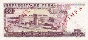 Cuba, 50 Pesos, 1990, UNC, p111s