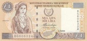 Cyprus, 1 Lira, 2004, UNC, p60d