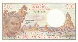 Djibouti, 500 Francs, 1988, UNC, p36b