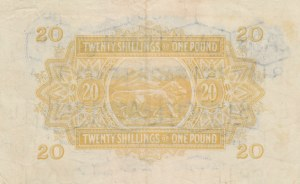 East African, 20 Shillings, 1956, XF, p35a