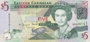 East Caribean States, 5 Dollars, 2008, UNC, p47
