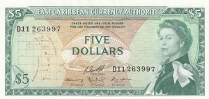 East Caribbean States, 5 Dollars, 1965, UNC, p14h