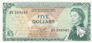 East Caribbean States, 5 Dollars, 1974, UNC, p14h2