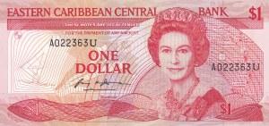 East Caribbean, 1 Dollar, 1988, UNC, p21u