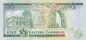 East Caribbean States, 5 Dollars, 1993, UNC, p26v
