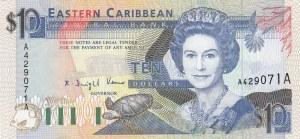 East Caribbean, 10 Dollars, 1993, UNC, p27a