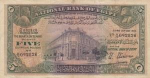 Egypt, 5 Pounds, 1943, VF, p19c