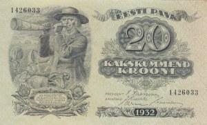Estonia, 20 Krooni, 1932, UNC, p64a