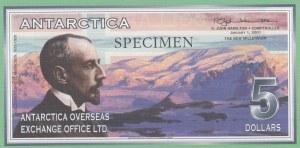 Antarctica, 5 Dollars, 2001, UNC, SPECIMEN