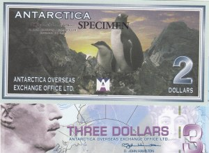 Antarctica, 2 Dollars and 3 Dollars, 1999/ 2007, UNC