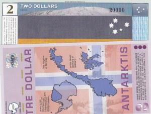 Antarctica, 2 Dollars and 3 Dollars, 1999/ 2007, UNC