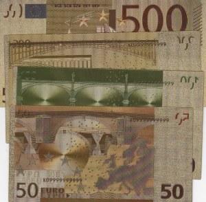 Fantasy Banknotes, Souvenir Gold View Series, Total 4 Banknotes