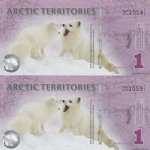 Fantezi Banknot, Artic Terrotories, 1 Dollar (2), 2012, UNC