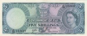 Fiji, 5 Shillings, 1965, UNC,p51e