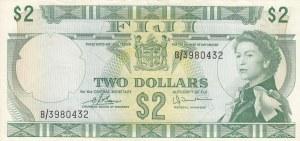 Fiji, 2 Dollars, 1974, XF, p72c