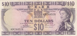 Fiji, 10 Dollars, 1974, UNC, p74b