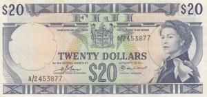 Fiji, 20 Dollars, 1974, XF, p74b