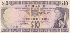 Fiji, 10 Dollars, 1974, XF, p74b