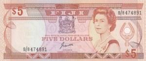 Fiji, 5 Dollars, 1989, UNC, p91a