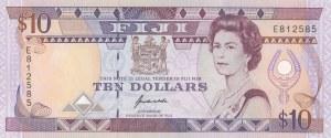 Fiji, 10 Dollars, 1992, UNC, p94a