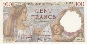 France, 100 Francs, 1942, UNC, p94