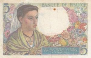 France, 5 Francs, 1943, XF, p98a