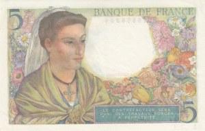France, 5 Francs, 1943, UNC, p98a