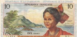 French Antilles, 10 Francs, 1964, VF(+), p8b