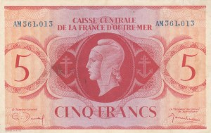 French Equatorial Africa, 5 Francs, 1941, UNC, p10