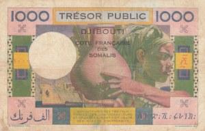 French Somaliland, 1000 Francs, 1952, VF/ XF, p28, RARE