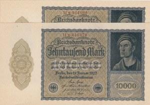 Germany, 10000 Mark, 1922, UNC, p71, (Total 5 Consecutive Banknotes)