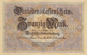 Germany, 20 Mark, 1914, VF (+), p48b