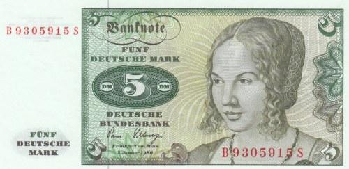 Germany Federal Republic, 5 Mark, 1980, UNC, p30b