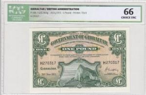 Gibraltar, 1 Pound, 1971, UNC, p18b