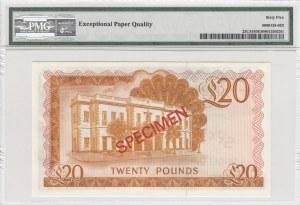 Gibraltar, 20 pounds, 1975, UNC, p23CS1, SPECİMEN