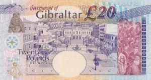 Gibraltar, 20 Pounds, 2004, UNC, p31a