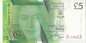Gibraltar, 5 Pounds, 2011, UNC, p35