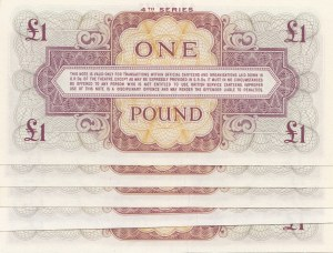 British Armed Forces, 1 Pound, 1962, UNC, (Total 5 banknotes)