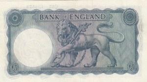 Great Britain, 5 Pounds, 1957-1961, UNC, p371a