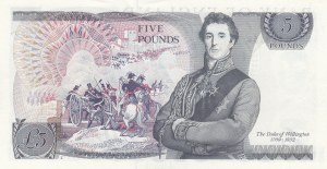 Great Britain, 5 Pound, 1973, UNC (-), p378b