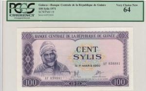 Guinea, 100 Sylis, 1971, UNC,p19