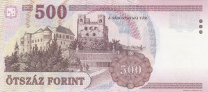 Hungary, 500 Forint, 2001, UNC, p188a