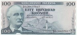 İceland, 100 Kronur, 1961, UNC, p44a